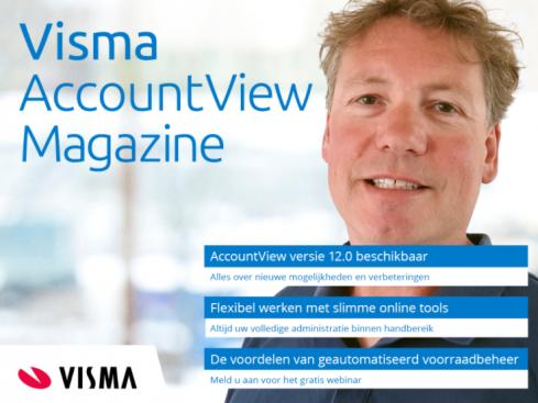 Visma AccountView Magazine cover juli